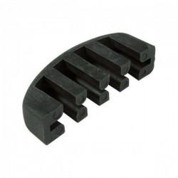 Tłumik altówkowy grzebień z gumy