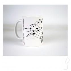 Kubek ceramiczny z motywem muzycznym