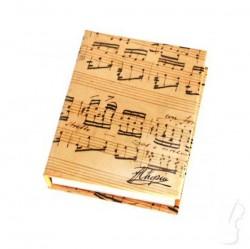 Notesik z wzorem muzycznym