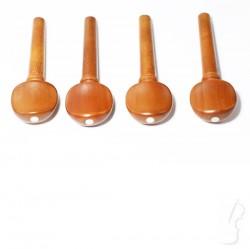 Zestaw kołków bukszpanowych z ozdobnym oczkiem