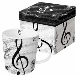 """Kubek """"I Love Music"""" w ozdobnym pudełku"""