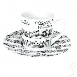 """Filiżanka do espresso """"Vivaldi Libretto"""", biała"""