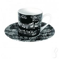 "Filiżanka do espresso ""Vivaldi Libretto"", czarna"