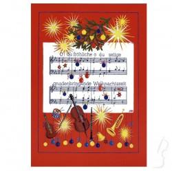 """Kartka świąteczna - """"Christmas carol"""""""