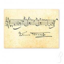 Pocztówka z nutami Straussa