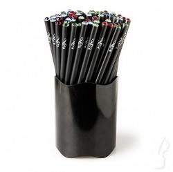 Ołówek z kryształkiem i nadrukiem: KLUCZ WIOLINOWY