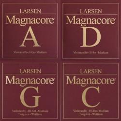 Struny wiolonczelowe Larsen Magnacore  4/4