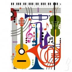 Teczka z wzorem muzycznym