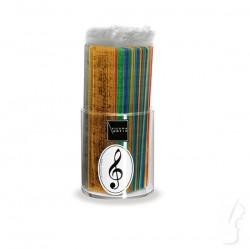 Kolorowa linijka z wzorem muzycznym