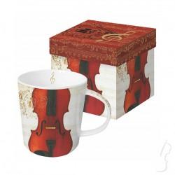 """Kubek """"Concerto Violino"""" w ozdobnym pudełku"""