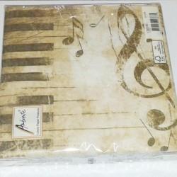 Serwetki papierowe z motywem muzycznym