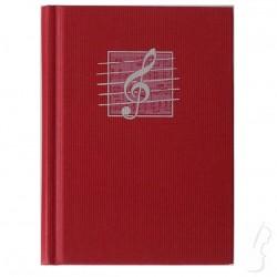 Notes z wzorem muzycznym - klucz wiolinowy