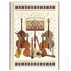 Notes z wzorem muzycznym