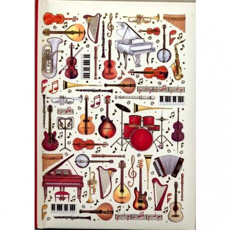 Notes z wzorem muzycznym - Music, A5
