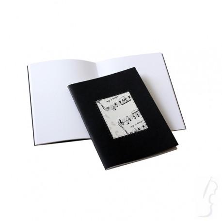 Notes z motywem muzycznym- czarny A5