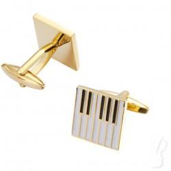 Spinki do mankietów - klawiatura, złote