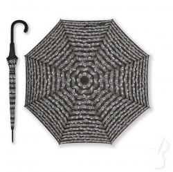 Duży parasol z wzorem muzycznym - czarny