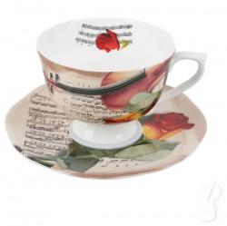 Filiżanka ze skrzypcami - porcelana