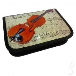 Piórnik ze skrzypcami - sztywny