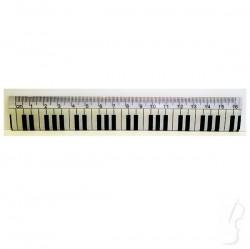Linijka 16 cm z klawiaturą fortepianu
