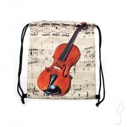 Plecak - worek z motywem skrzypiec