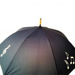 Parasol z motywem nut - granatowy