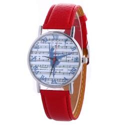 Zegarek z motywem baletnicy, czerwony