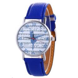 Zegarek z motywem baletnicy, niebieski