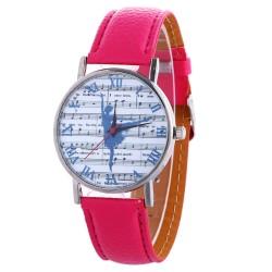 Zegarek z motywem baletnicy, różowy