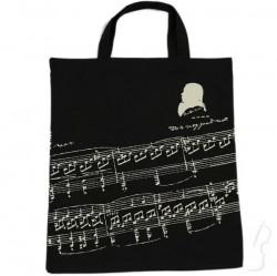 Torba z motywem nut Beethovena, czarna
