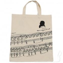 Torba z motywem nut Beethovena, beżowa