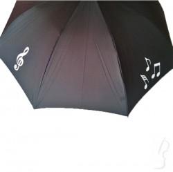 Parasol z motywem nut - czarny