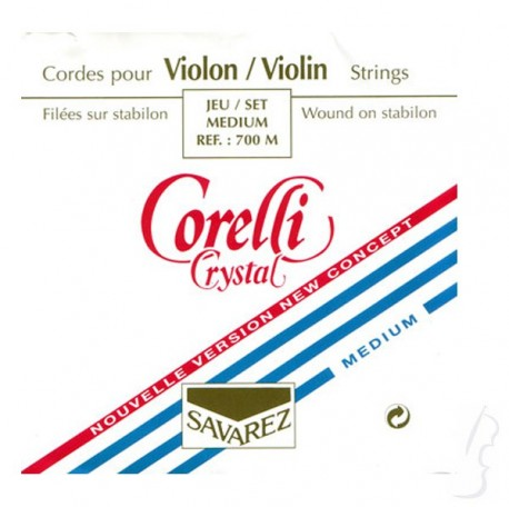 Komplet strun skrzypcowych Corelli Crystal 4/4
