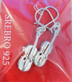 Kolczyki - Skrzypce, srebro pr. 925
