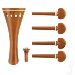 Zestaw akcesoriów skrzypcowych z bukszpanu