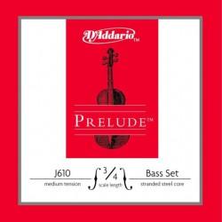 Komplet kontrabasowy D'addario Prelude 3/4