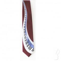 Krawat z wzorem muzycznym